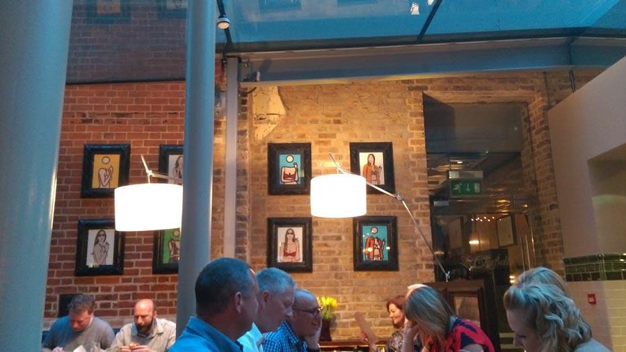 Galvin hop restaurant wall