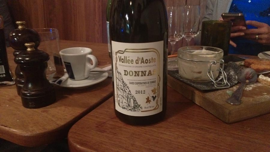 Donnas Valle d'Aosta wine