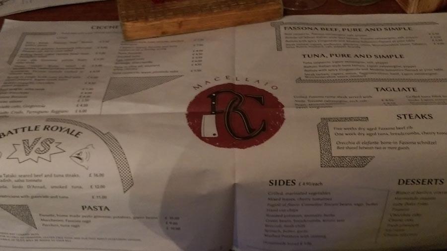 Il macellaio rc menu