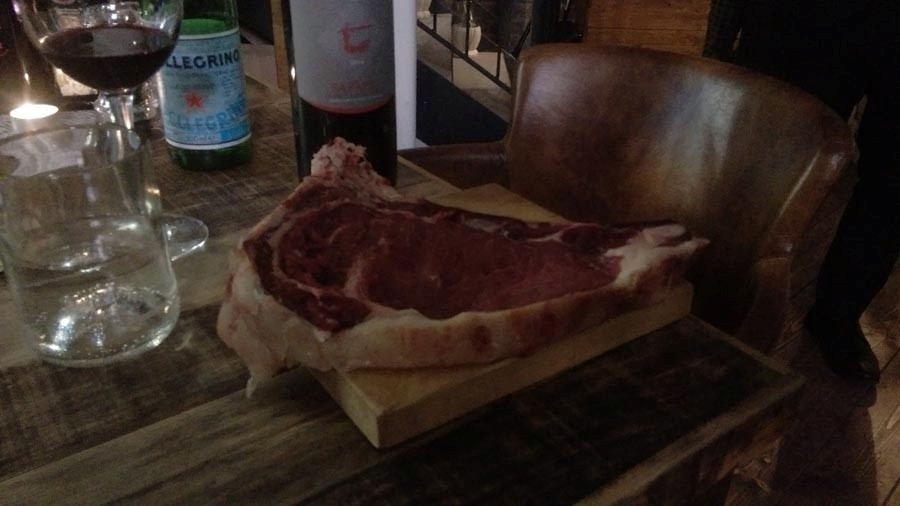 T-bone Steak ready to be cooked