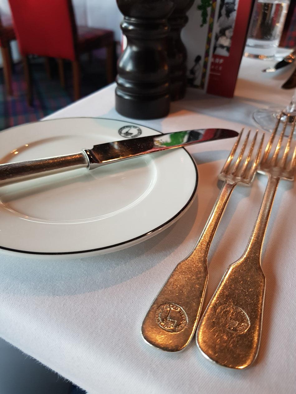 Boisdale Canary Wharf Table set