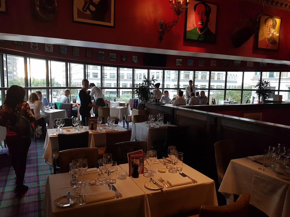 Boisdale Canary Wharf Dinning Room
